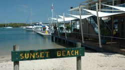 Sunset Beach adjoining the marina